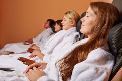 Group in relaxation room Royalty Free Stock Photos