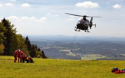 Group of rescuers practice of rescue operation Stock Photos