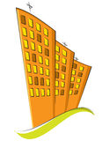 Group of residential buildings. Vector illustratio Stock Photography