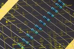 Group of resistors Royalty Free Stock Image