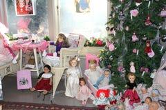 Group of retro dolls Royalty Free Stock Image
