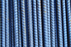Group of ribbed reinforcement bars Stock Photo
