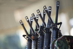 Group of rifles Royalty Free Stock Image