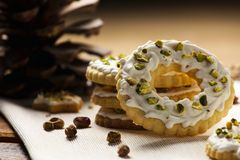 Group of ring cookies Royalty Free Stock Images