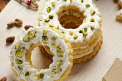 Group of ring cookies Stock Images