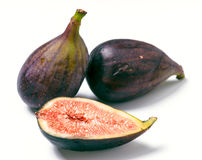 Group ripe figs cut Stock Images