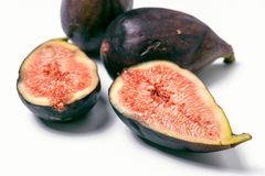 Group ripe figs cut Royalty Free Stock Photography
