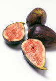 Group ripe figs cut Stock Photo
