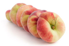 Group of ripe flat peaches Royalty Free Stock Photos