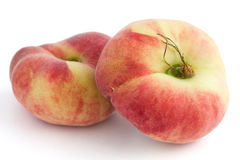Group of ripe flat peaches Royalty Free Stock Photo