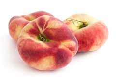 Group of ripe flat peaches Royalty Free Stock Image