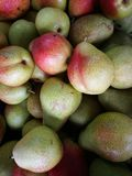 Group of ripe fresh pears. For background Stock Photos
