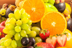 Group of ripe Fruits and vegetables for healthy royalty free stock photography