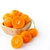 Group of ripe orange fruits on white Stock Image