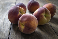 Group of ripe red peaches Stock Image