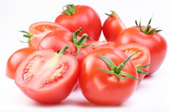 Group of ripe red tomatoes. Royalty Free Stock Photography
