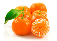 Group of ripe tangerine Stock Photography