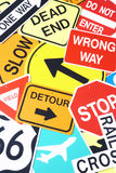 Group Of Road Signs Royalty Free Stock Photo