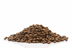Group of roasted coffee beans. Stock Images