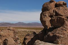 Rock formations at Valle de las Rocas royalty free stock images