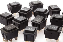 group of Rocker Switches Royalty Free Stock Photography