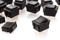 group of Rocker Switches Royalty Free Stock Photos