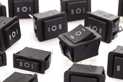group of Rocker Switches Stock Photo