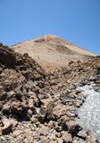 Group of rocks down the volcano Royalty Free Stock Photos