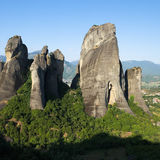 Group Of Rocks In Meteora Royalty Free Stock Image