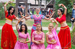 Group of romanian dancers at the Festival Stock Images