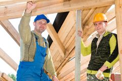 Group of roofers Stock Images