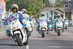 A group of Royal Malaysian Police. Royalty Free Stock Photos