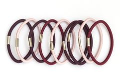 Group of rubber bands for colored hair royalty free stock photo