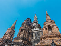 Group of ruin Pagodas Royalty Free Stock Photography
