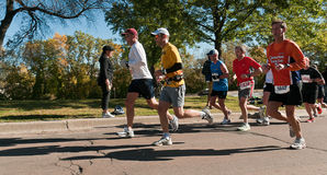 Group of Runners - 2010 Twin Cities Marathon Stock Image