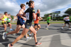 Group of Runners, emotional blurred image Royalty Free Stock Photos