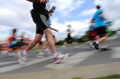 Group of Runners, emotional blurred image Royalty Free Stock Photography