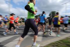 Group of Runners, emotional blurred image Royalty Free Stock Images