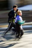 Group of Runners Pan and Blur Royalty Free Stock Images