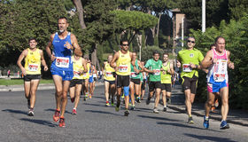 Group of runners on the road (Hunger Run 2014, FAO/WFP) Stock Photography