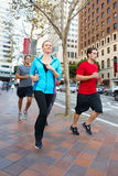 Group Of Runners On Urban Street Royalty Free Stock Photo