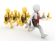 Group running businessman. Stock Photo