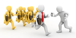 Group running businessman. Royalty Free Stock Photography