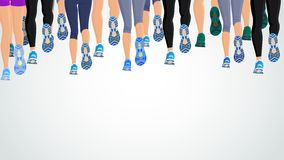 Group running people legs Stock Images