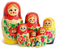 Group of Russian Dolls Stock Images