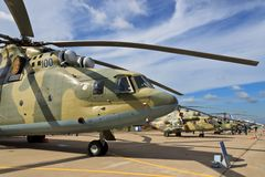 A group of Russian helicopters Royalty Free Stock Photography