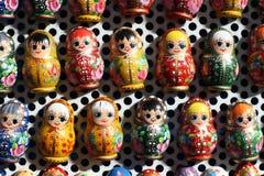 Group of russian matreshka dolls as souvenirs Royalty Free Stock Photos