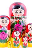 Group of Russian nesting dolls royalty free stock image