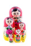 Group of Russian nesting dolls Royalty Free Stock Images