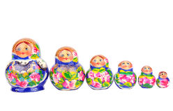 Group of Russian nesting dolls Stock Photography